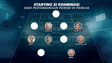 Starting XI Kombinasi dari pertandingan Persib Bandung vs Persija Jakarta. - INDOSPORT