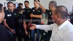 Indosport - Gubernur Sumut sekaligus Dewan Pembina PSMS Medan, Edy Rahmayadi, saat sambangi Mess PSMS, Minggu (27/10/19).