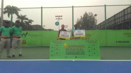 Nadya Dhaneswara keluar sebagai juara tunggal putri ITF Junior Grade 5 Amman Mineral International Junior Championships Jakarta, Minggu (27/10/19). - INDOSPORT