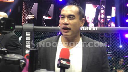 Ketua Umum KOBI, Ardie Bakrie, mengungkapkan kebahagiannya bisa mewakili Indonesia dalam rapat tahunan Federasi Mixed Martial Arts Dunia (IMMAF). - INDOSPORT