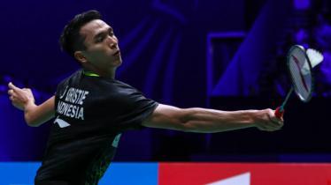 Pebulutangkis Jonatan Christie berhasil melangkah ke babak perempatfinal Hong Kong Open 2019 usai mengalahkan Prannoy HS.,Kamis (14/11/19) di Hong Kong Coliseum. - INDOSPORT