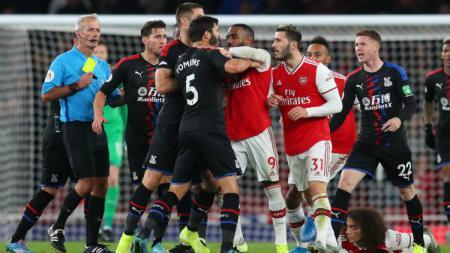 Arsenal harus puas ditahan imbang Crystal Palace 2-2 di Liga Inggris. - INDOSPORT