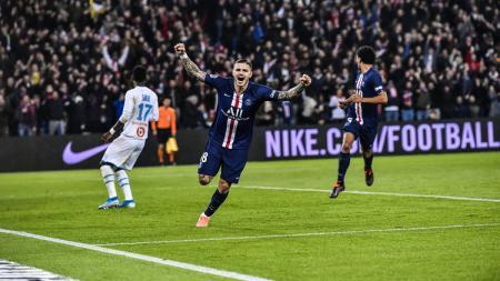 Paris Saint-Germain sukses meraih kemenangan besar 4-0 atas tamunya Olympique Marseille pada lanjutan pekan ke-11 Ligue 1 Prancis 2019-2020 di Stadion Parc des Princes, Senin (28/10/19) dini hari WIB. - INDOSPORT