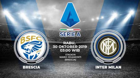 Pertandingan Brescia vs Inter Milan. - INDOSPORT
