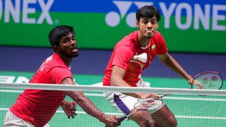 Pasangan Satwiksairaj Rankireddy/Chirag Shetty menginginkan pelatih sekaliber legenda Indonesia untuk menggeser dominasi pasangan Kevin Sanjaya/Marcus Gideon. - INDOSPORT