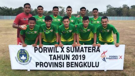 Tim sepak bola Pra PON Sumatera Utara finis sebagai runner-up Grup B Pekan Olahraga Wilayah (Porwil) Sumatera X/2019 Bengkulu. - INDOSPORT