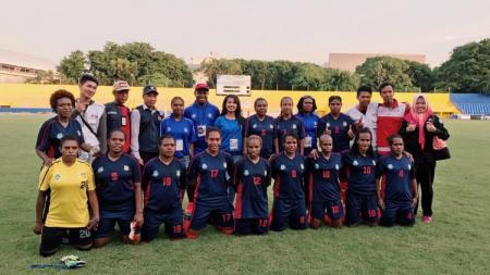 Skuat Persipura Tolikara menyambut Liga 1 Putri 2019. - INDOSPORT
