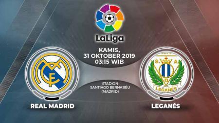 Pertandingan Real Madrid vs Leganes bisa disaksikan melalui siaran link live streaming. - INDOSPORT