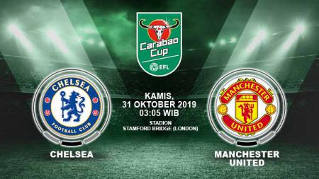 Prediksi pertandingan Chelsea vs Manchester United pada ajang Piala Liga Inggris-Carabao Cup 2019-2020, Kamis (31/10/19), pukul 03.05 WIB. - INDOSPORT