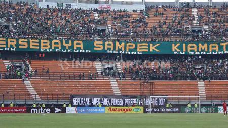 Persebaya Surabaya dipastikan tidak mendapatkan dukungan dari suporter mereka, Bonekmania di Liga 1. - INDOSPORT