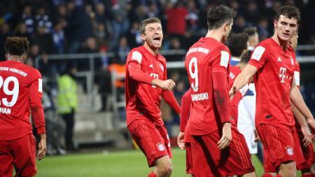 FC Bayern Munchen sukses mengatasi perlawanan tuan rumah Vfl Bochum dengan skor 2-1 dalam laga babak kedua DFB Pokal di Vonovia Ruhrstadion  , Rabu (30/10/19). - INDOSPORT