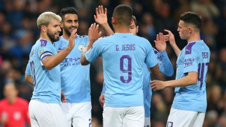 Berikut hasil pertandingan Liga Inggris pekan ke-24 antara Sheffield United vs Manchester City yang baru saja selesai dimainkan, Rabu (22/01/20) dini hari WIB, di mana Sergio Aguero mencetak gol kemenangan. - INDOSPORT