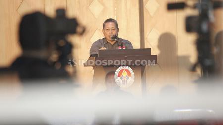 Salah satu calon ketua umum PSSI, periode 2019-2023, Sarman El Hakim mengatakan menarik diri dari keanggotaan AFF. - INDOSPORT
