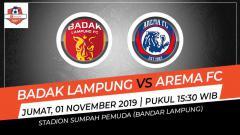Indosport - Pertandingan Badak Lampung vs Arema FC.