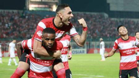 Madura United jadi klub Liga 1 yang paling gemar merekrut pemain-pemain kunci eks Persija, termasuk awal musim 2020 ini. - INDOSPORT