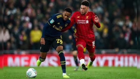 Catatan-catatan penting hadir usai drama sepuluh gol Liverpool vs Arsenal pada babak keempat Piala Liga Inggris Carabao Cup 2019-2020, Kamis (31/10/19) WIB. - INDOSPORT