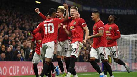 Fakta-fakta tercipta usai Manchester United mengalahkan Chelsea pada babak keempat Piala Liga Inggris-Carabao Cup 2019-20, Kamis (31/10/19). - INDOSPORT