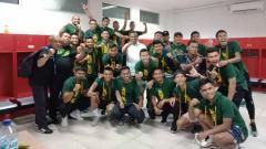 Indosport - Skuat PSMS Medan di ruang ganti.