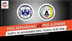 Indosport - Prediksi pertandingan Shopee Liga 1 2019 antara PSIS Semarang vs PSS Sleman pada pekan ke-26, Sabtu (02/11/19), pukul 15.30 WIB, di Stadion Maguwoharjo.