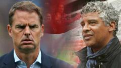 Indosport - Frank de Boer (kiri) dianggap akan membahayakan Timnas Belanda usai ditunjuk gantikan Ronald Koeman yang gabung raksasa LaLiga Spanyol, Barcelona.