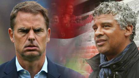 Frank de Boer (kiri) dianggap akan membahayakan Timnas Belanda usai ditunjuk gantikan Ronald Koeman yang gabung raksasa LaLiga Spanyol, Barcelona. - INDOSPORT