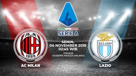 Pertandingan antara AC Milan vs Lazio. - INDOSPORT