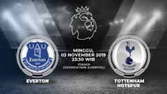 Indosport - Pertandingan antara Everton vs Tottenham Hotspur.