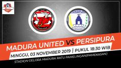 Indosport - Prediksi pertandingan Shopee Liga 1 2019 Madura United vs Persipura Jayapura pekan ke-26, Minggu (03/11/19), pukul 18.30 WIB, di Stadion Madura Ratu Pamelingan.
