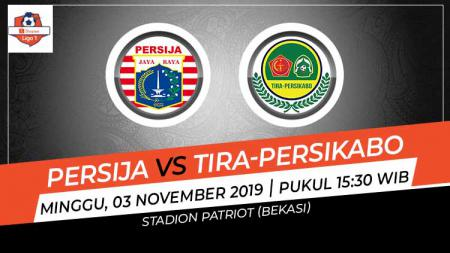 Pertandingan antara Persija Jakarta vs Tira-Persikabo. - INDOSPORT