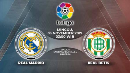 Pertandingan antara Real Madrid vs Real Betis. - INDOSPORT