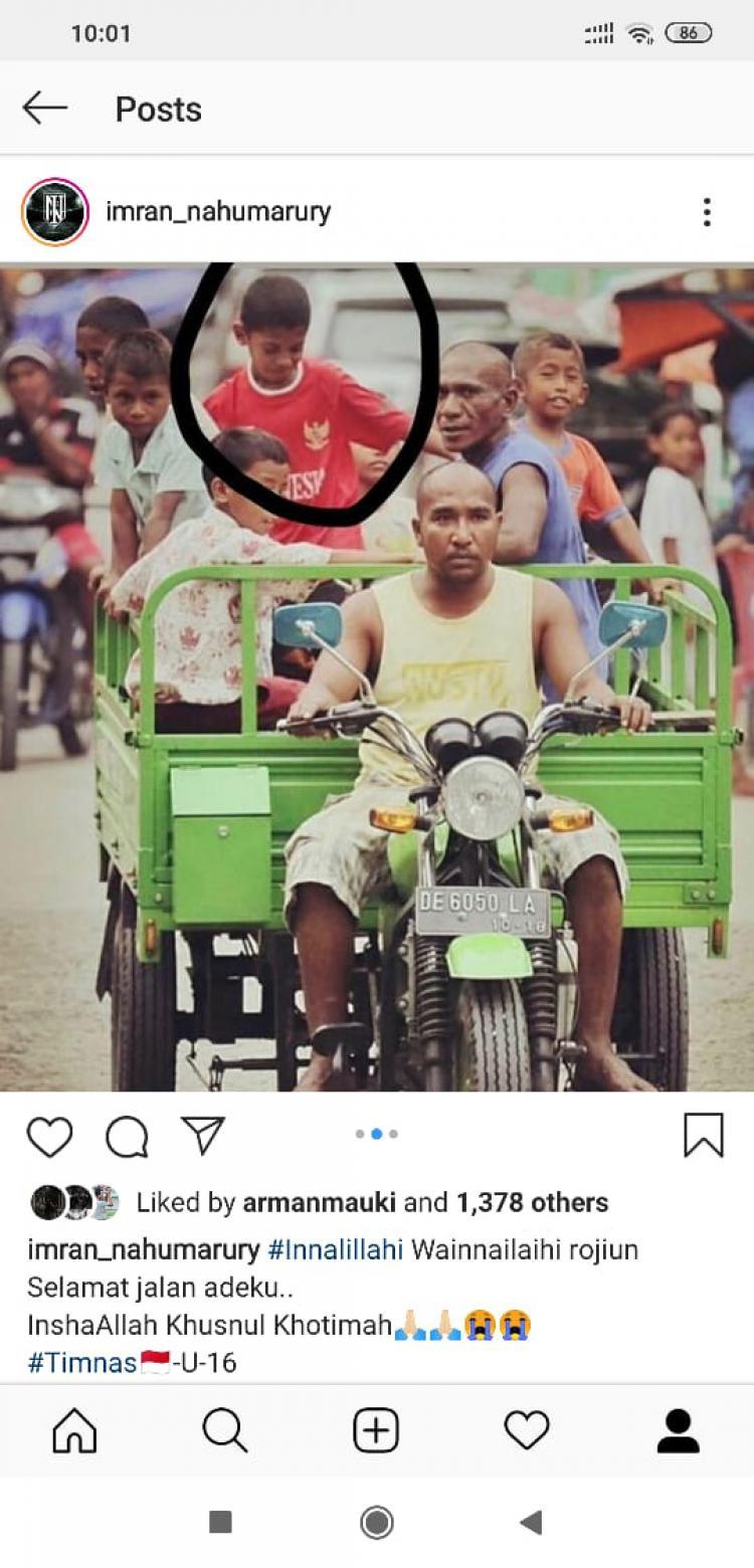 Imran Nahumarury turut berduka cita atas meninggalnya Alfin Lestaluhu Copyright: instagram.com/imran_nahumarury