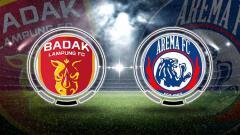Indosport - Badak Lampung vs Arema FC.