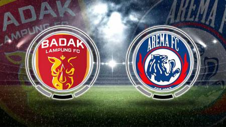 Badak Lampung vs Arema FC. - INDOSPORT