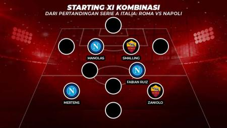 Kombinasi starting XI AS Roma vs Napoli - INDOSPORT