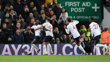 Sadio Mane menjadi bintang kemenangan Liverpool atas Aston Villa di pekan ke-11 Liga Inggris. - INDOSPORT