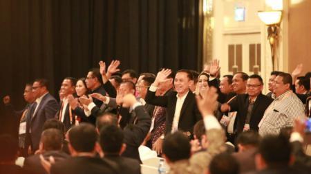 Induk olahraga sepak bola Indonesia yakni PSSI telah selesai melakukan Kongres Luar Biasa (KLB) untuk memilih kepengurusan baru di Hotel Shangri-La, Jakarta, Sabtu (02/11/19). - INDOSPORT