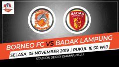 Indosport - Pertandingan antara Borneo FC vs Badak Lampung.