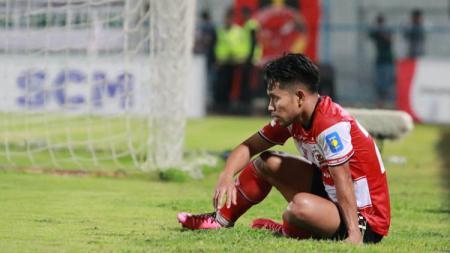 Andik Vermansah dipastikan tidak akan berseragam Madura United lagi di musim kompetisi 2020. Meninggalkan Madura United, Andik juga menitipkan pesan penting. - INDOSPORT