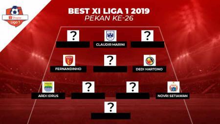Best Starting XI Liga 1 2019 pekan ke-26. - INDOSPORT
