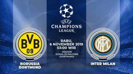 Prediksi pertandingan antara Borussia Dortmund vs Inter Milan pada match day 4 Liga Champions 2019-2020 Grup F, Rabu (06/11/19), pukul 03.00 WIB. - INDOSPORT