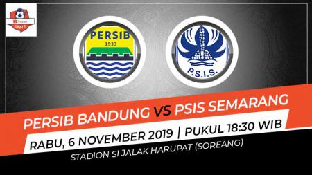 Prediksi pertandingan Shopee Liga 1 2019 Persib Bandung vs PSIS Semarang pada pekan ke-27, Rabu (06/11/19), pukul 18.30 WIB, di Stadion Si Jalak Harupat. - INDOSPORT