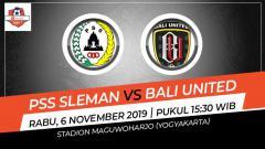 Indosport - Pekan ke-27 kompetisi sepak bola Shopee Liga 1 2019 akan menyajikan pertandingan seru antara PSS Sleman menjamu Bali United, Rabu (06/11/19).