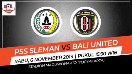PSS Sleman harus puas bermain imbang tanpa gol dengan Bali United dalam lanjutan pekan ke-27 kompetisi Liga 1 2019, Rabu (06/11/19). - INDOSPORT