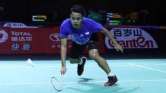 Indosport - Pebulutangkis Anthony Sinisuka Ginting memberikan pernyataan berkelasnya usai dirugikan oleh wasit di final Hong Kong Open 2019.