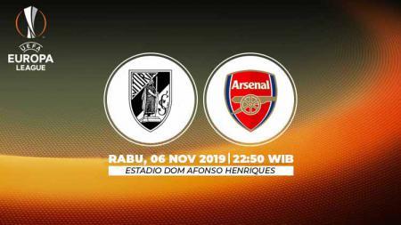 Prediksi pertandingan Liga Europa 2019-2020 Vitoria Guimaraes vs Arsenal match day 4 Grup F, Rabu (06/11/19), pukul 22.50 WIB, di Stadion D. Afonso Henriques. - INDOSPORT