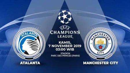 Pertandingan antara Atalanta vs Manchester City. - INDOSPORT