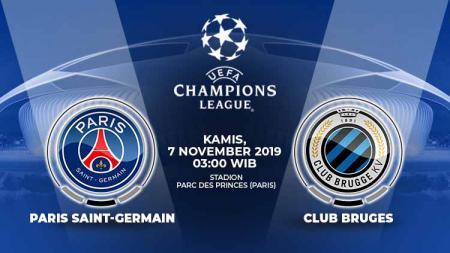 Pertandingan antara Paris Saint-Germain vs Club Bruges. - INDOSPORT