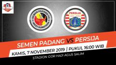 Indosport - Prediksi pertandingan Liga 1 2019 pekan ke-27 menyuguhkan Semen Padang vs Persija Jakarta dan tampaknya laga bakal berjalan seru, Kamis (07/11/9).