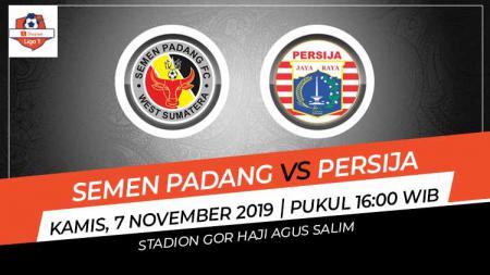 Prediksi pertandingan Liga 1 2019 pekan ke-27 menyuguhkan Semen Padang vs Persija Jakarta dan tampaknya laga bakal berjalan seru, Kamis (07/11/9). - INDOSPORT