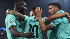 Indosport - Selebrasi para pemain Inter Milan di laga Liga Champions kontra Borussia Dortmund